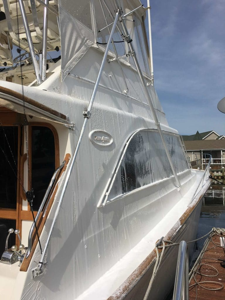 Washing your boat tips