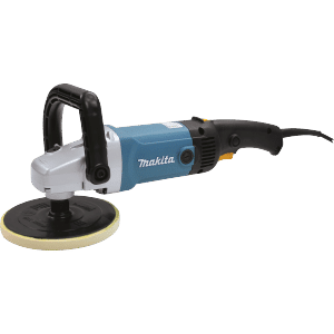 The Makita rotary buffer is excellent for detailing boats with