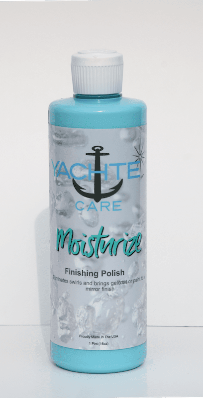 Add moisture to your gelcoat before waxing with out boat polish