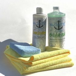 Complete kit to wash and wax your boat with an amazing shine