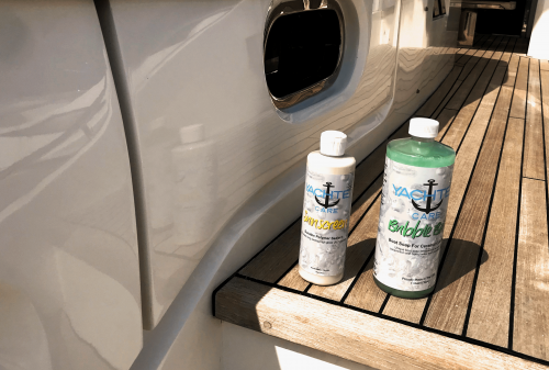 highly concentrated boat soap with deep cleaning powers and long lasting polymer sealant and boat wax
