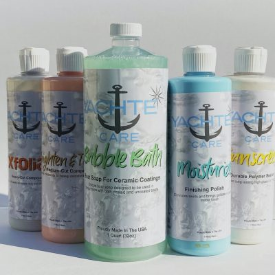 Sample all of the yachte compounds/polishes, waxes and soaps for your boat in one convenient kit