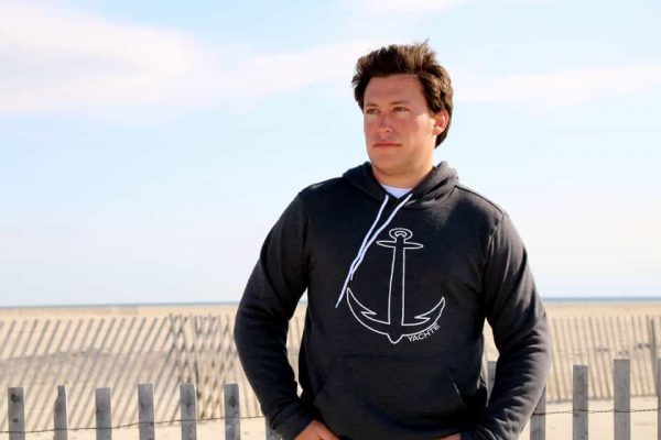 Comfortable Nautical Sweatshirt Beach Background